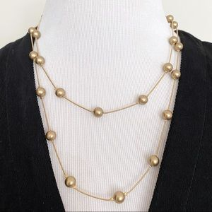 🎉5/20 SALE🎉 vintage gold chain bead necklace